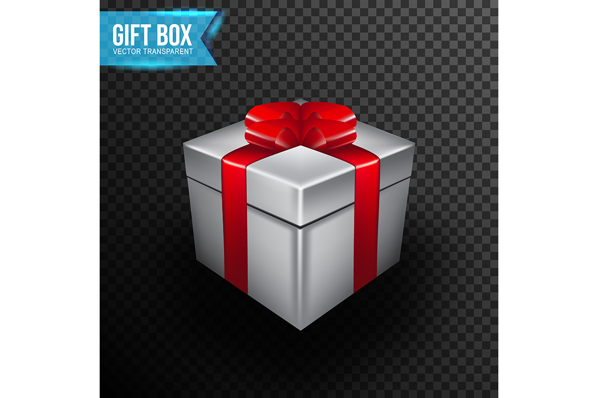 Download Free Gift Box With Red Ribbon Vector Graphic By Ojosujono96 SVG Cut Files