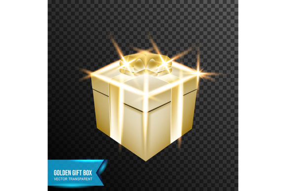 Download Free Golden Gift Box Light Effect Vector Graphic By Ojosujono96 for Cricut Explore, Silhouette and other cutting machines.