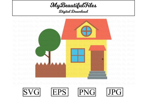 Print on Demand: House Clipart Illustration Graphic Illustrations By MyBeautifulFiles