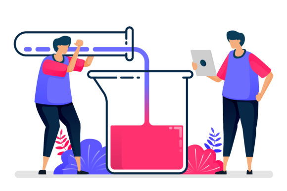 Illustration of  Test Tubes Experiment Grafik Illustrationen von setiawanarief111