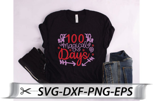 Download Free 100 Magical Days Svg Graphic By Svg Store Creative Fabrica for Cricut Explore, Silhouette and other cutting machines.