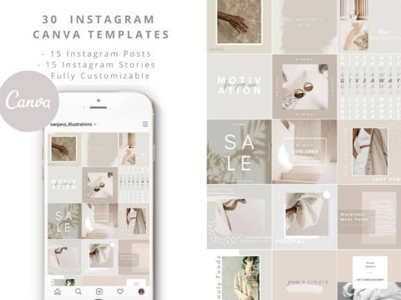 30 Minimal Instagram Templates Graphic Graphic Templates By SagaDesignStudio