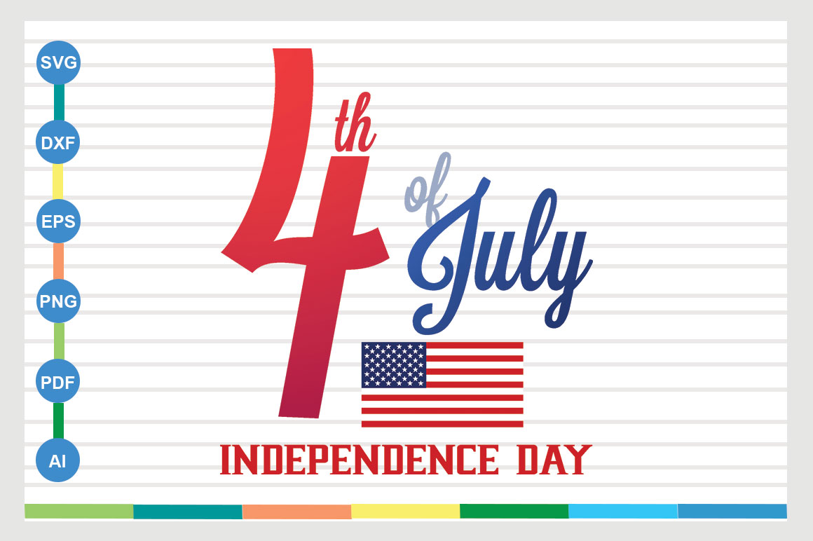 Download Free 4th Of July Svg Design Graphic By Sajidmajid441 Creative Fabrica for Cricut Explore, Silhouette and other cutting machines.