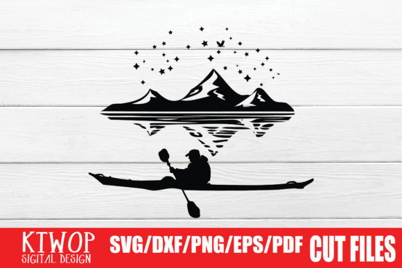 Print on Demand: Adventure Man Who is Rowing a Canoe Graphic Crafts By KtwoP