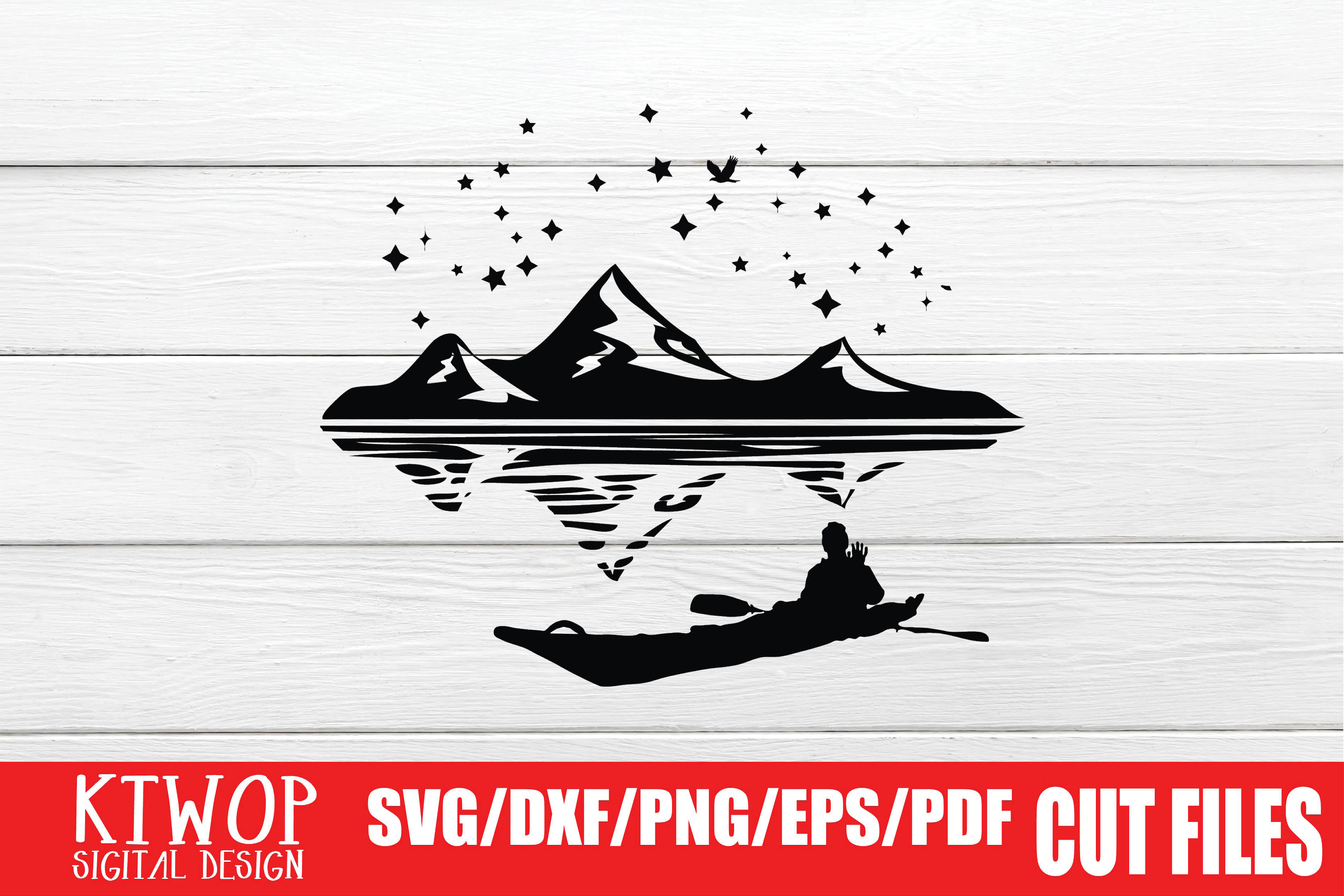 Download Free Adventure Man Who Is Rowing A Canoe Graphic By Ktwop Creative for Cricut Explore, Silhouette and other cutting machines.