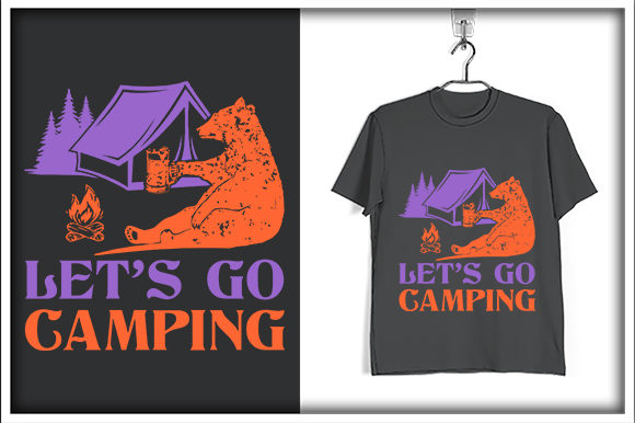 Print on Demand: Let's Go camping Graphic Print Templates By svg_hut