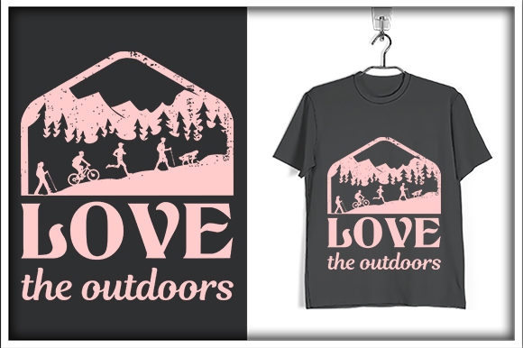 Print on Demand: Adventure T-shirt Design, Love the Graphic Print Templates By svg_hut