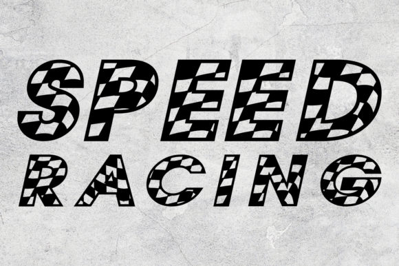 Alphabet Racing Checkered Font Graphic 3D SVG By Krit-Studio329 - Image 3