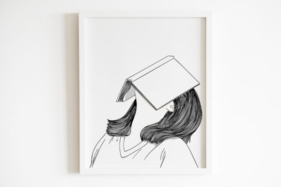 Art Print | She Was Bored Reading a Lot Graphic Illustrations By Saydung89