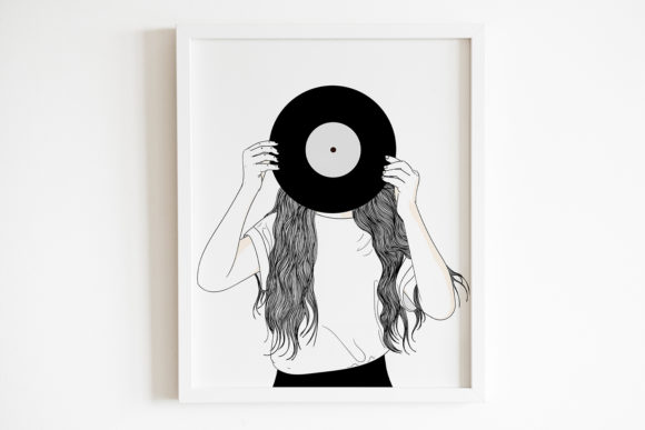 Print on Demand: Art Print | Woman with an Old Sheet of M Graphic Illustrations By Saydung89