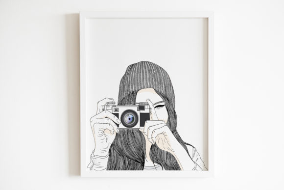 Art Print   Women Are Taking Pictures Graphic Illustrations By Saydung89