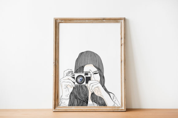 Download Free Art Print Women Are Taking Pictures Graphic By Saydung89 Creative Fabrica for Cricut Explore, Silhouette and other cutting machines.