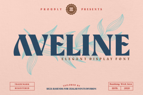 Print on Demand: Aveline Display Font By zealab fonts division