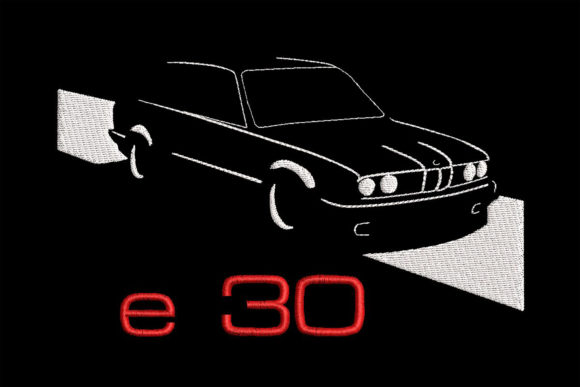 Print on Demand: BMW E30 Simplistic Embroidery Design Transportation Embroidery Design By Embroidery Shelter