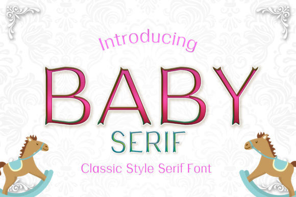 Print on Demand: Baby Serif Font By numnim - Image 1