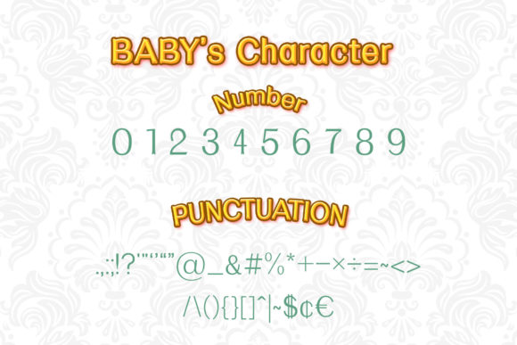 Print on Demand: Baby Serif Font By numnim - Image 3