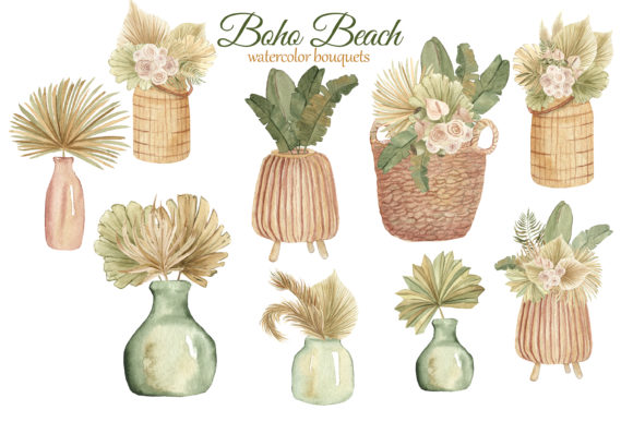 Print on Demand: Boho Beach House Clipart Graphic Illustrations By s.yanyeva - Image 5