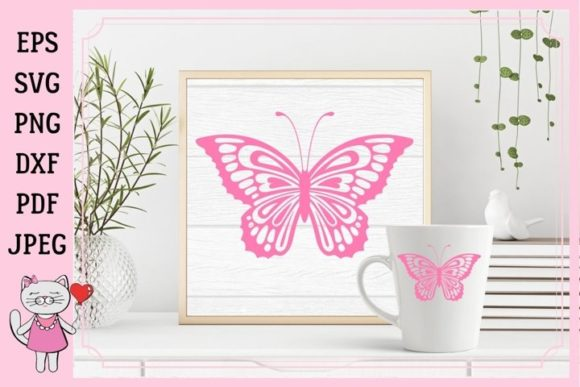 Download Free Butterfly Paper Graphic By Magic World Of Design Creative Fabrica SVG Cut Files