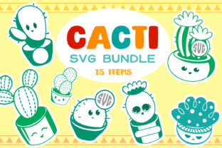 Print on Demand: Cacti Bundle - 15 Items Graphic Crafts By tatiana.cociorva