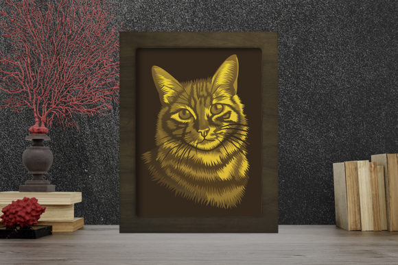 Download Free Cat Portraits Light Box Shadow Box Graphic By Lightboxgoodman for Cricut Explore, Silhouette and other cutting machines.