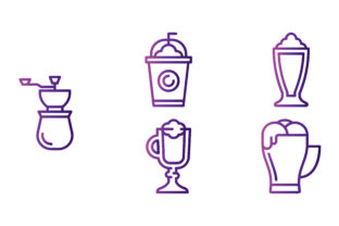 Coffee Shop Gradient Graphic Icons By beryladamayu