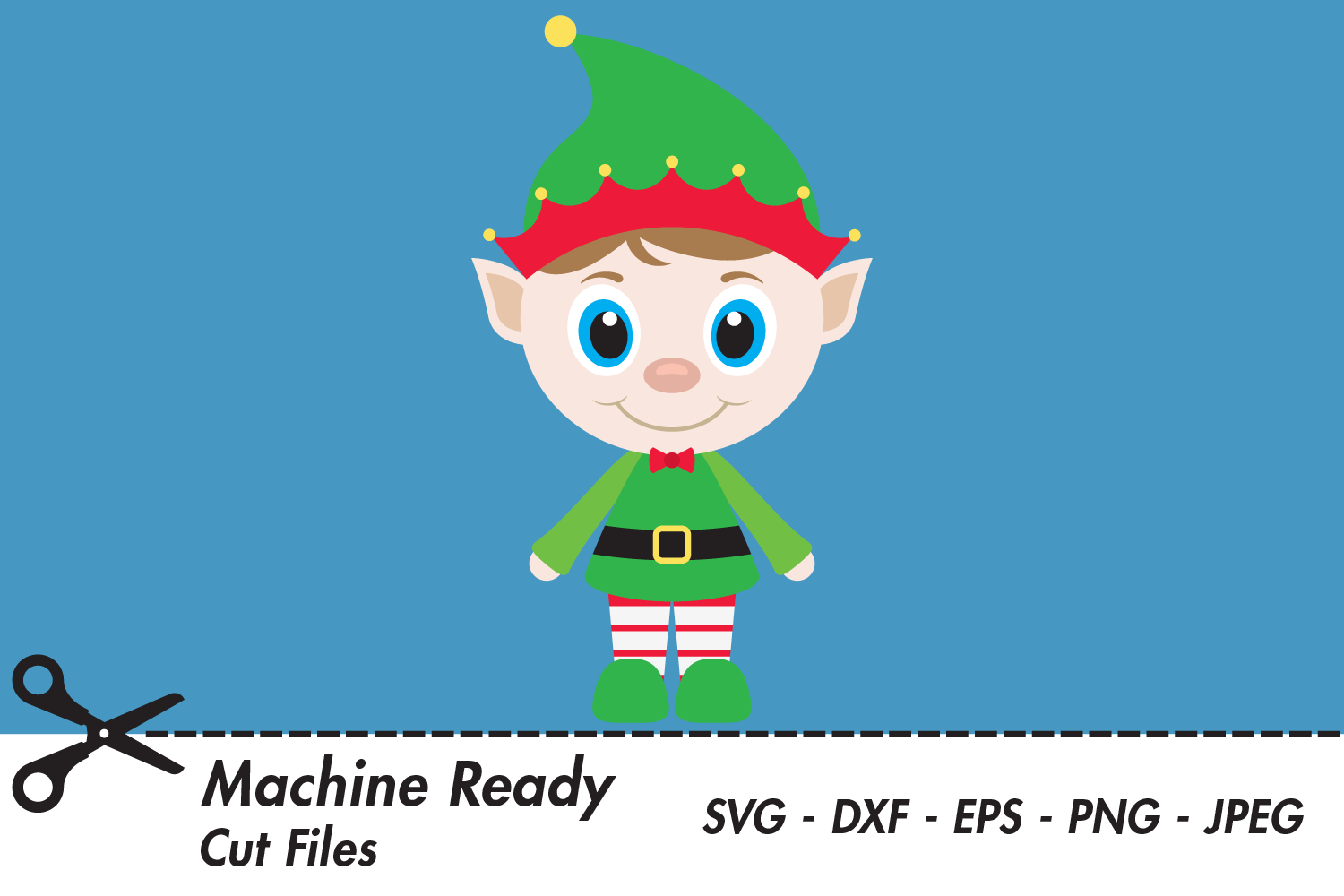 Download Free Cute Boy Elf Graphic By Captaincreative Creative Fabrica for Cricut Explore, Silhouette and other cutting machines.