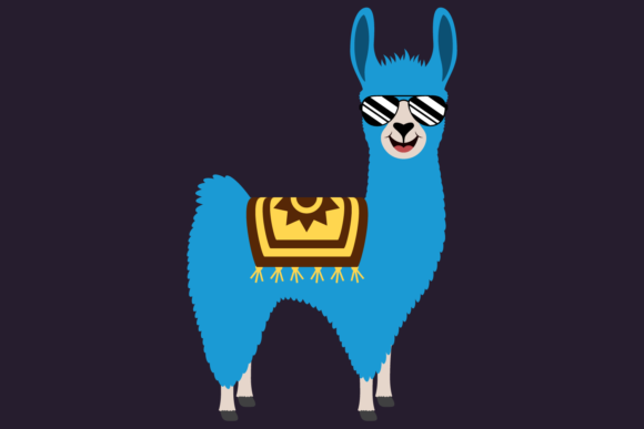 Download Free Cute Boy Llamas With Shades And Cacti Graphic By Captaincreative SVG Cut Files