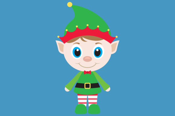 Download Free Cute Elfs With Gifts And Snowflakes Graphic By Captaincreative for Cricut Explore, Silhouette and other cutting machines.