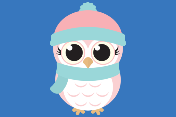 Download Free Cute Girl Owl Graphic By Captaincreative Creative Fabrica for Cricut Explore, Silhouette and other cutting machines.