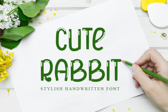 Download Free Cute Rabbit Font By One Design Creative Fabrica for Cricut Explore, Silhouette and other cutting machines.