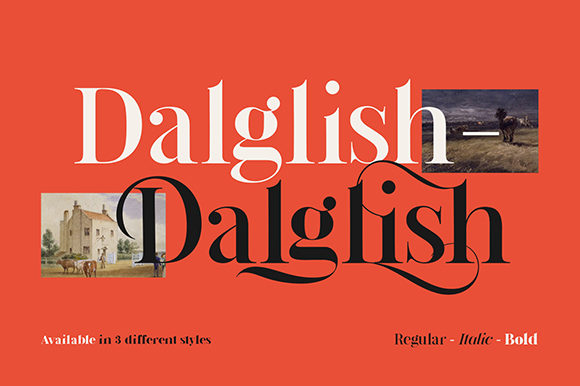 Print on Demand: Dalglish Serif Font By Damelev. - Image 1
