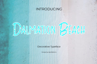 Print on Demand: Dalmation Beach Display Font By Display Letter