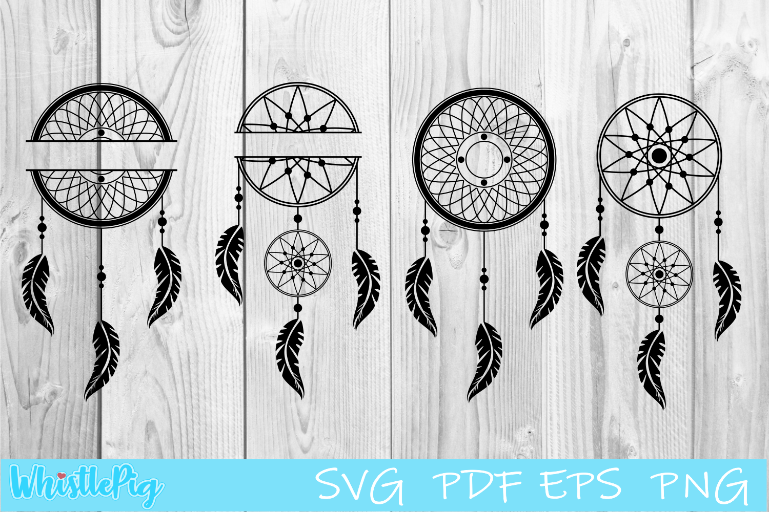 Download Free Dream Catcher Bundle Graphic By Whistlepig Designs Creative for Cricut Explore, Silhouette and other cutting machines.
