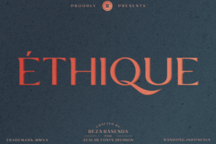 Print on Demand: Ethique Display Font By zealab fonts division