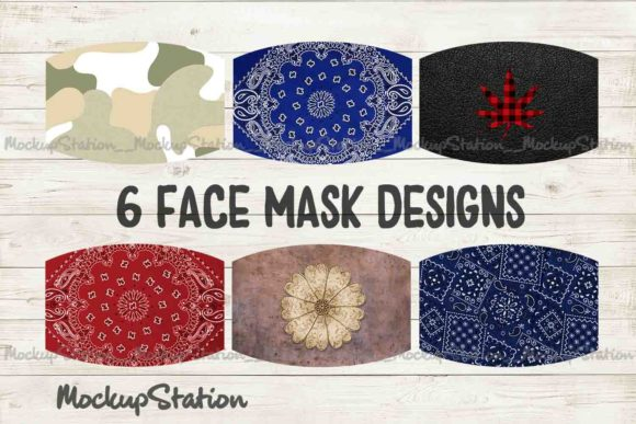 Print on Demand: Youth Designs Face Mask Bundle  Graphic Patterns By Mockup Station