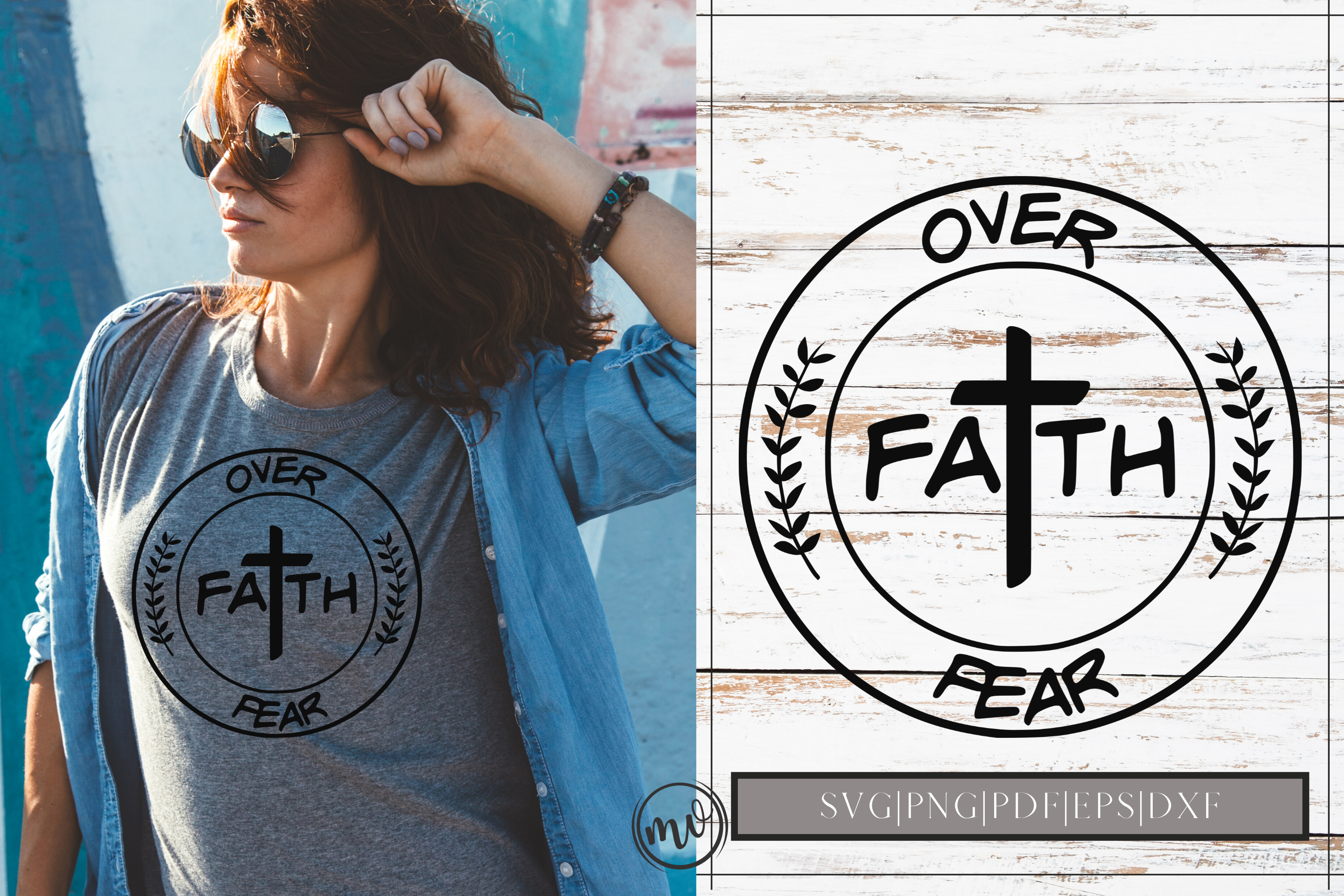 Download Free Faith Over Fear Svg Design Cut File Graphic By Mockup Venue for Cricut Explore, Silhouette and other cutting machines.
