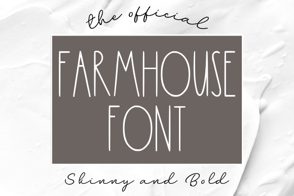Print on Demand: Farmhouse Sans Serif Schriftarten von Sage Makers