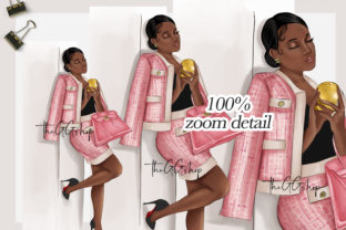 Print on Demand: Fashion Girl Clipart Graphic Illustrations By TheGGShop 4