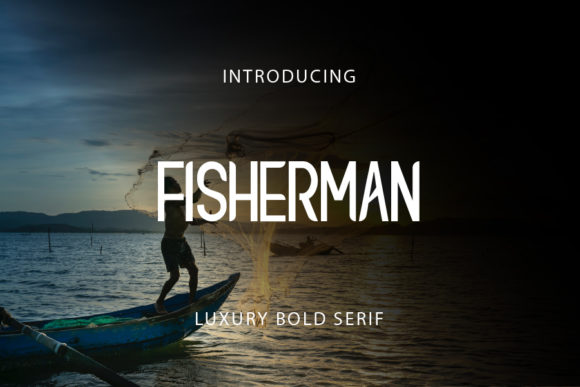 Print on Demand: Fisherman Display Schriftarten von mizanstudio