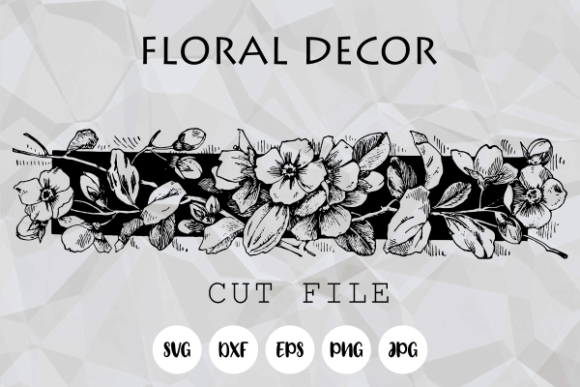 Print on Demand: Floral Decor Design Element Cut File Graphic Crafts By Prawny
