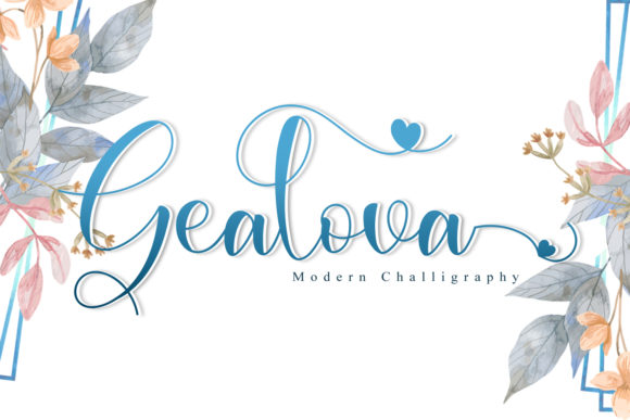Print on Demand: Gealova Script & Handwritten Font By niyos.studio