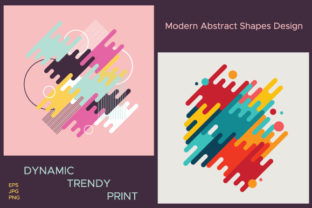 Geometric Abstract Dynamic Shapes Graphic Illustrations By MartaMarta