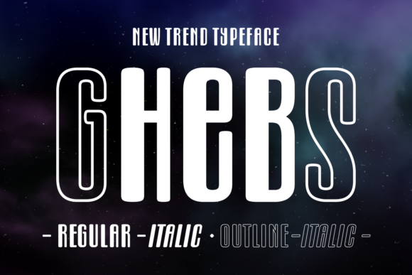 Print on Demand: Ghebs Display Font By Situjuh