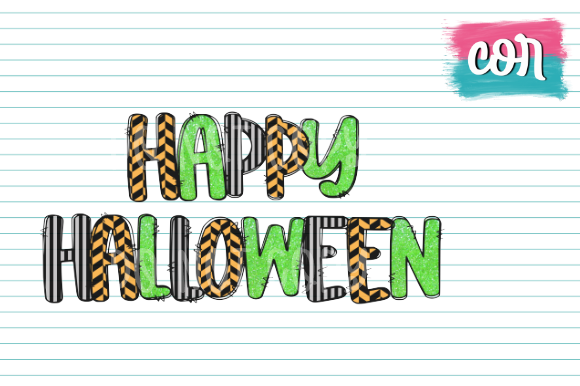 Print on Demand: Happy Halloween Graphic Crafts By designscor