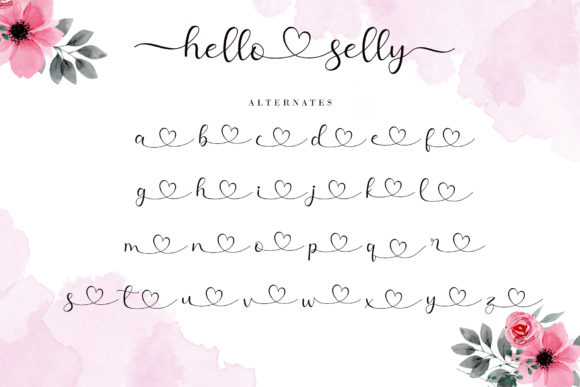 Hello Selly Font Font