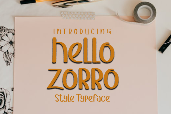 Print on Demand: Hello Zorro Display Font By ONE DESIGN - Image 1