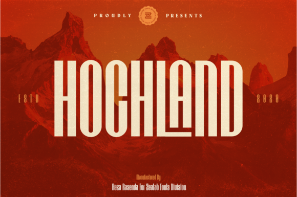 Download Free Hochland Font By Zealab Fonts Division Creative Fabrica for Cricut Explore, Silhouette and other cutting machines.