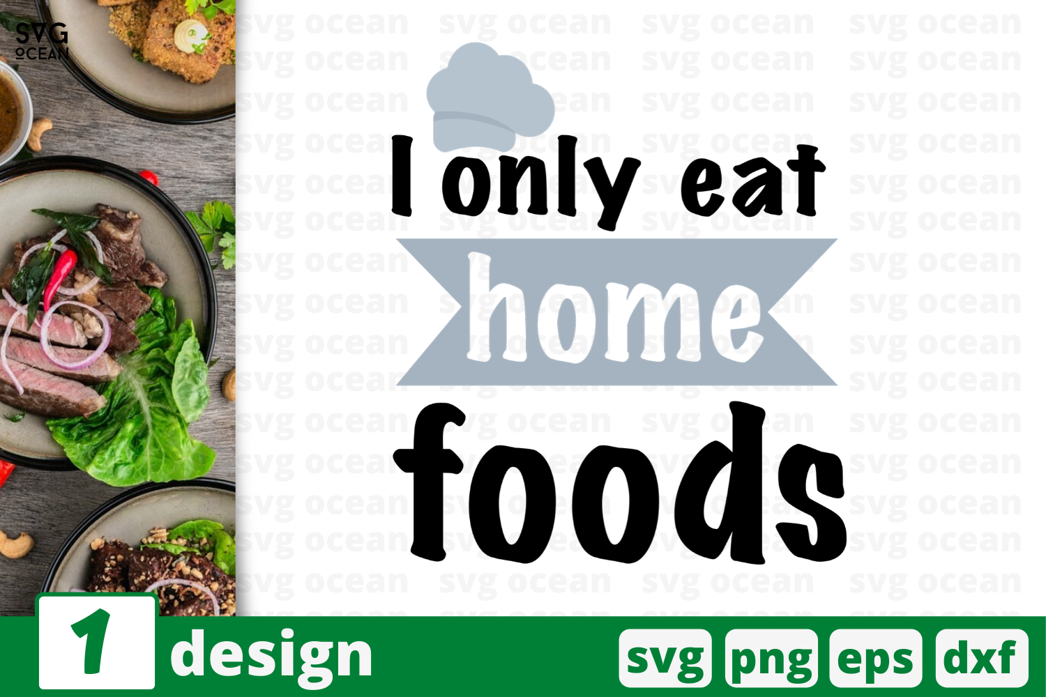 Download Free I Only Eat Home Foods Graphic By Svgocean Creative Fabrica for Cricut Explore, Silhouette and other cutting machines.
