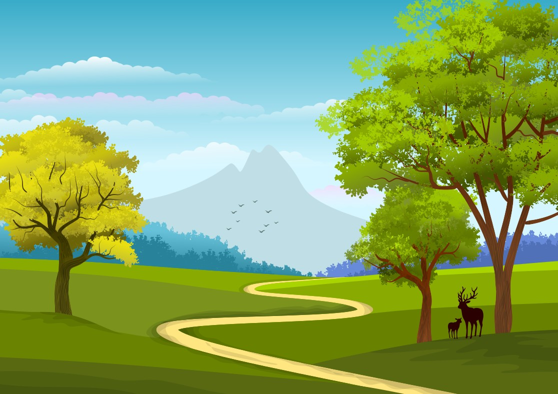 Download Free Illustration Background Naure Landscap Graphic By for Cricut Explore, Silhouette and other cutting machines.