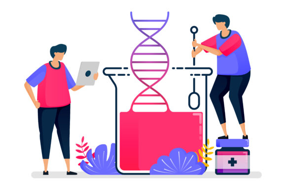 Illustration of Dna Genetics Experiments Grafik Illustrationen von setiawanarief111